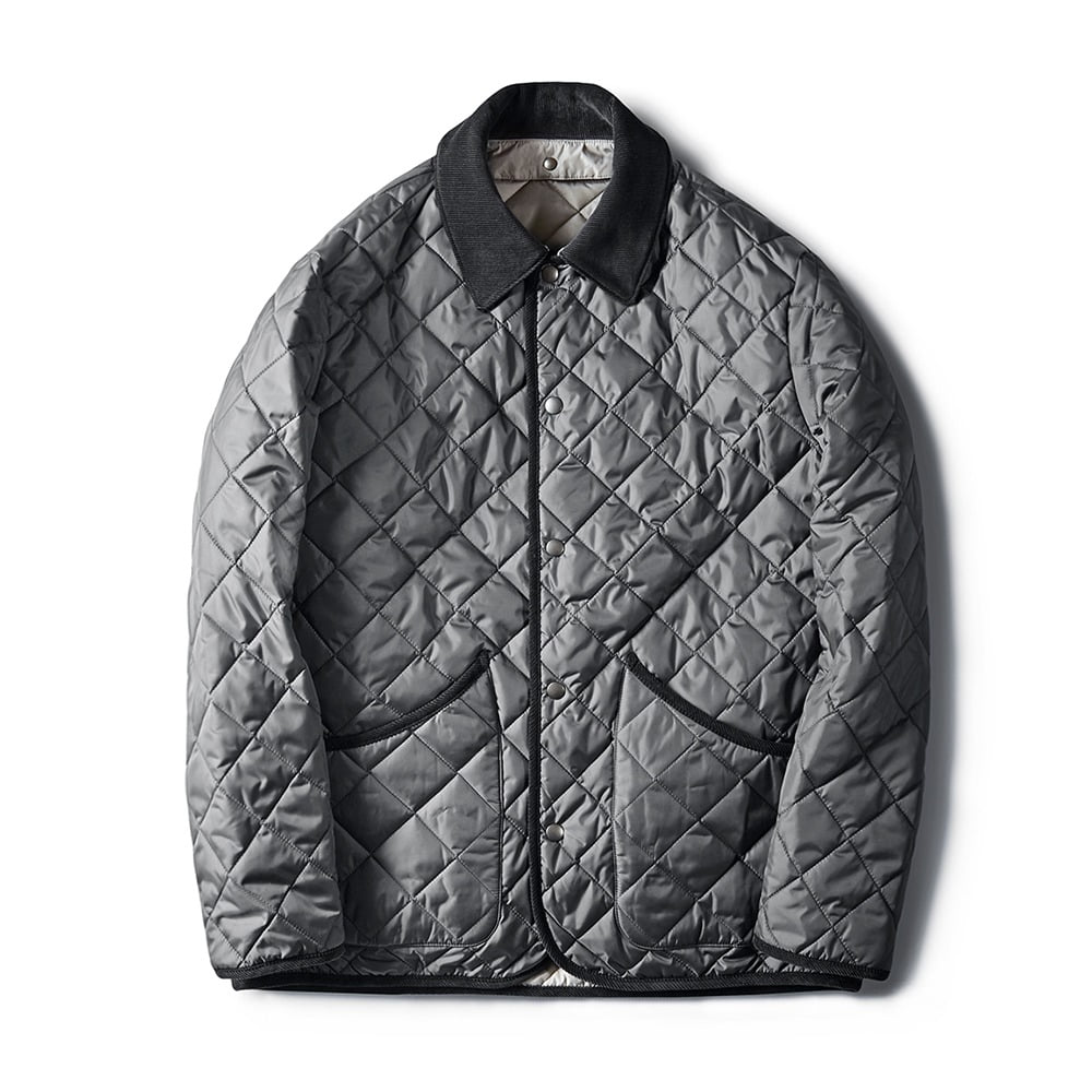 ESFAIDiamond Quilted Jacket(Grey)