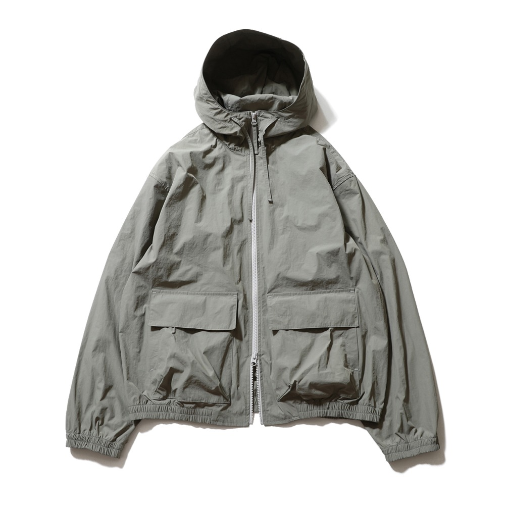 HORLISUN*RESTOCK*Breeze Nylon Hood Zip Up Jacket(Dust Olive)