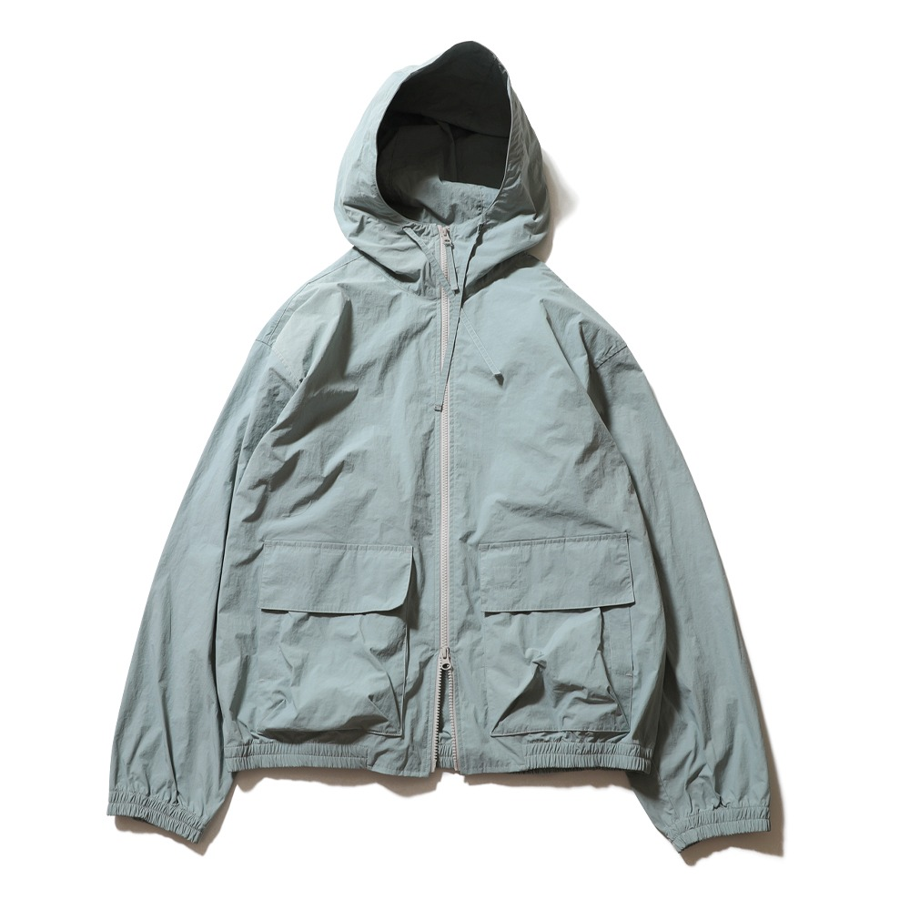 HORLISUN*RESTOCK*Breeze Nylon Hood Zip Up Jacket(Light Sky)