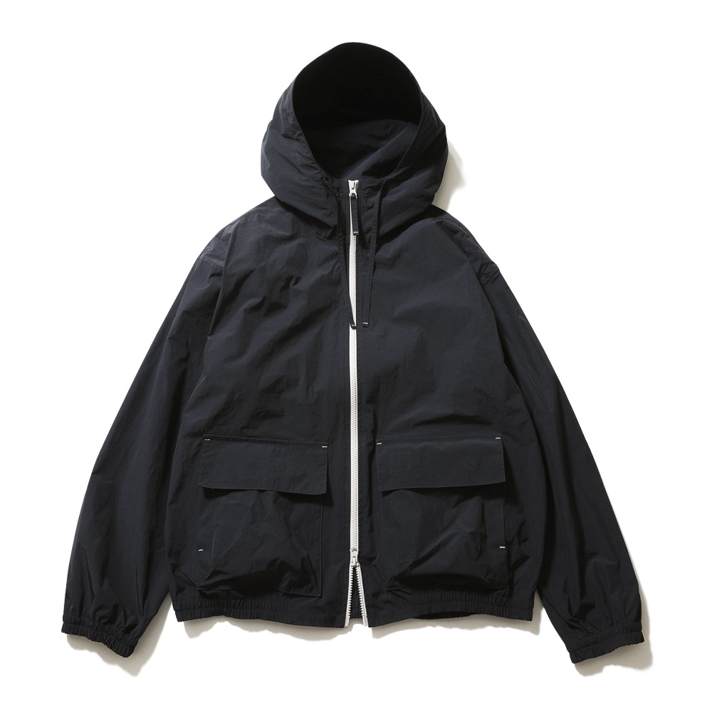 HORLISUN*RESTOCK*Breeze Nylon Hood Zip Up Jacket(Navy)