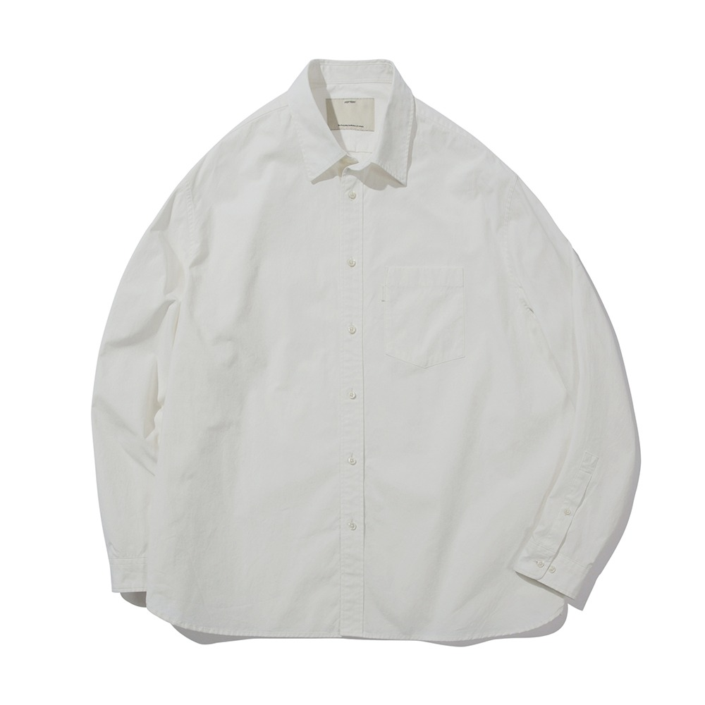POTTERY*RESTOCK*Comfort ShirtSupima Cotton 80/2 High Density Oxford Resilient Finish(White)
