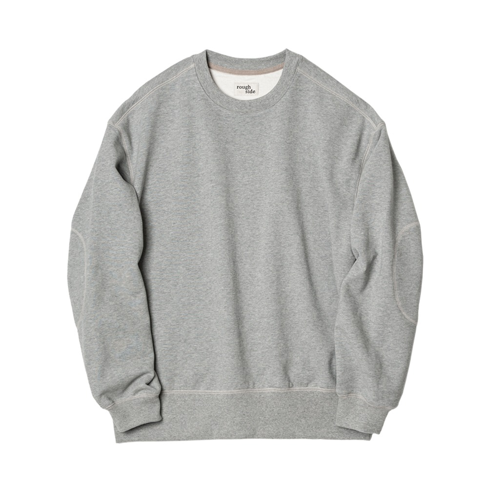 ROUGH SIDE105.Oversized Sweat Shirts(Melange Grey)