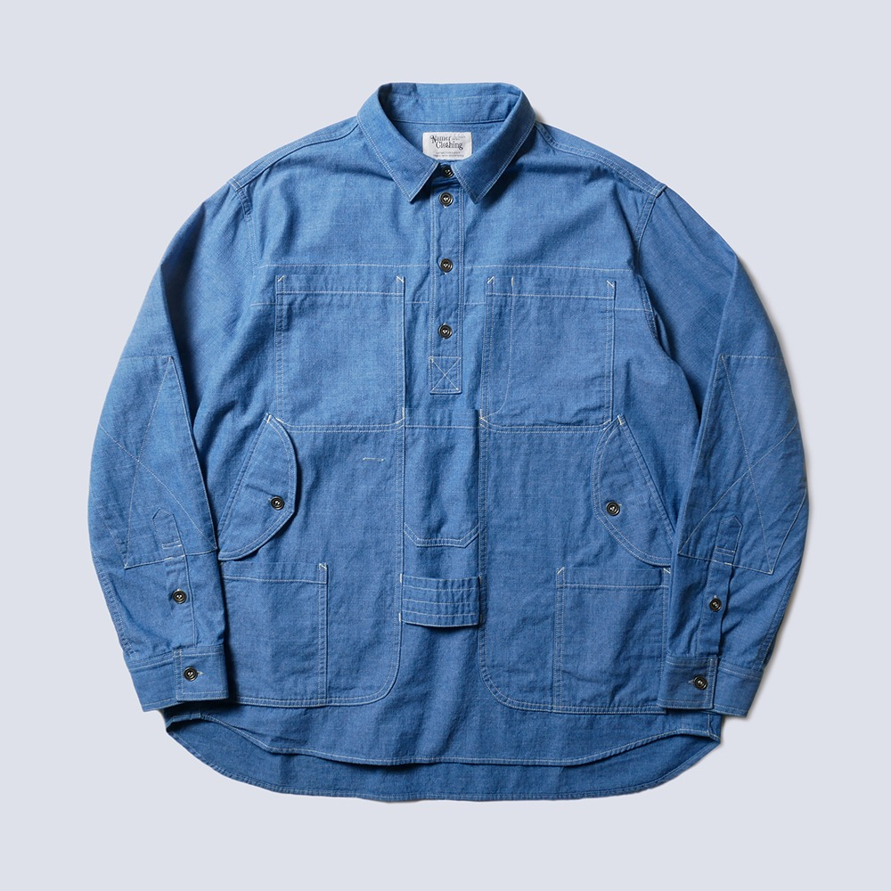 NAMER CLOTHINGBluer Utility Pullover Shirts(Blue)