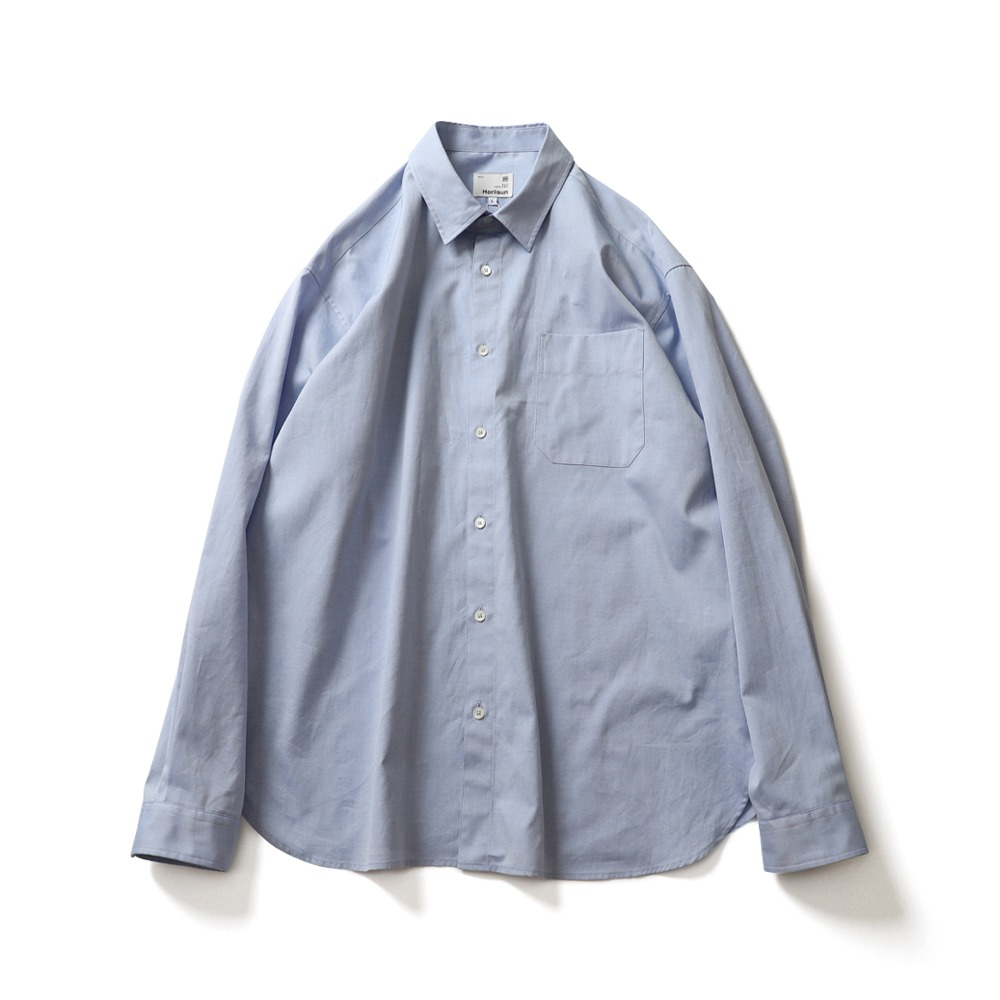 HORLISUNJane Silky Oxford Shirts(Blue)