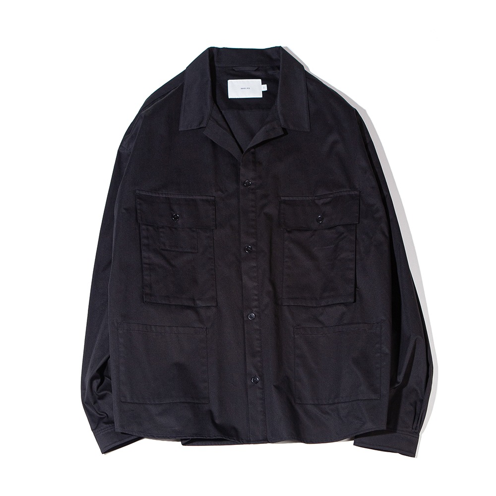 OURSELVESSatin Cotton B.D.U Shaket(Black)