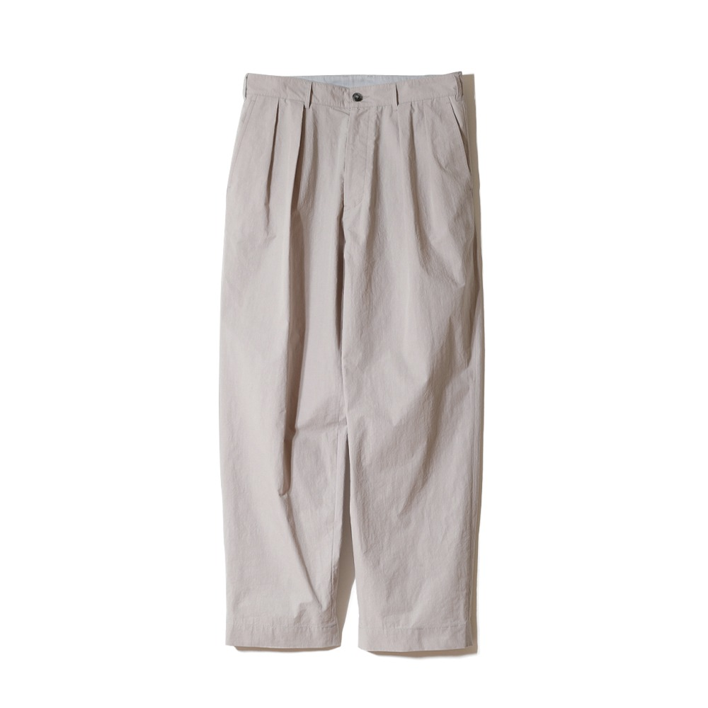 HORLISUNCorinth Typewriter Water Repellent Wide Pants (Beige)