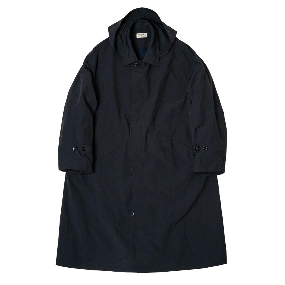 ROUGH SIDEDrizzle Coat(Navy)