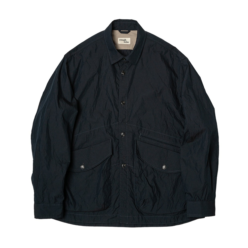 ROUGH SIDECrease Jacket(Navy)