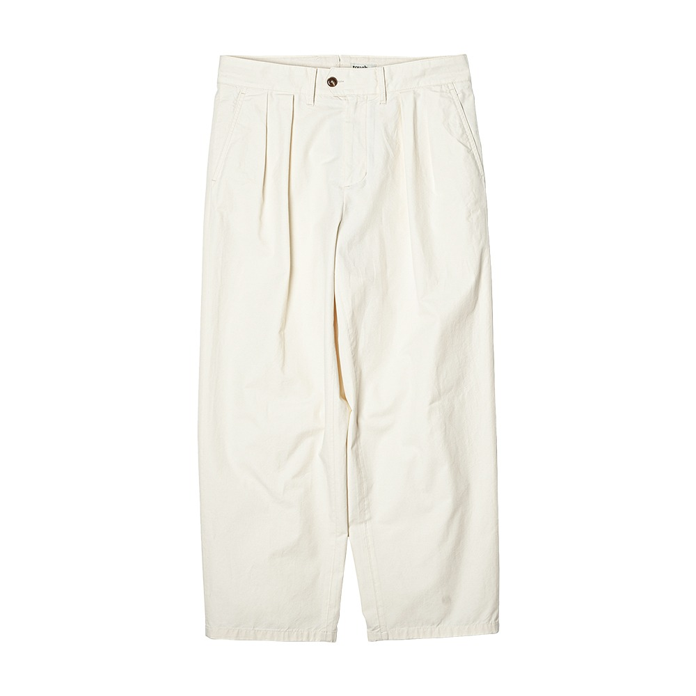 ROUGH SIDE2Tuck Wide Pants (Off White)
