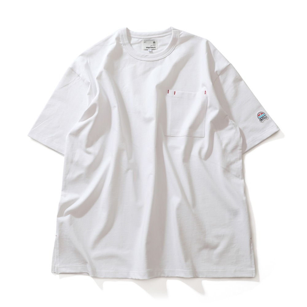 HORLISUNLawrence Overfit Short Sleeve Pocket T-Shirts(Off White)
