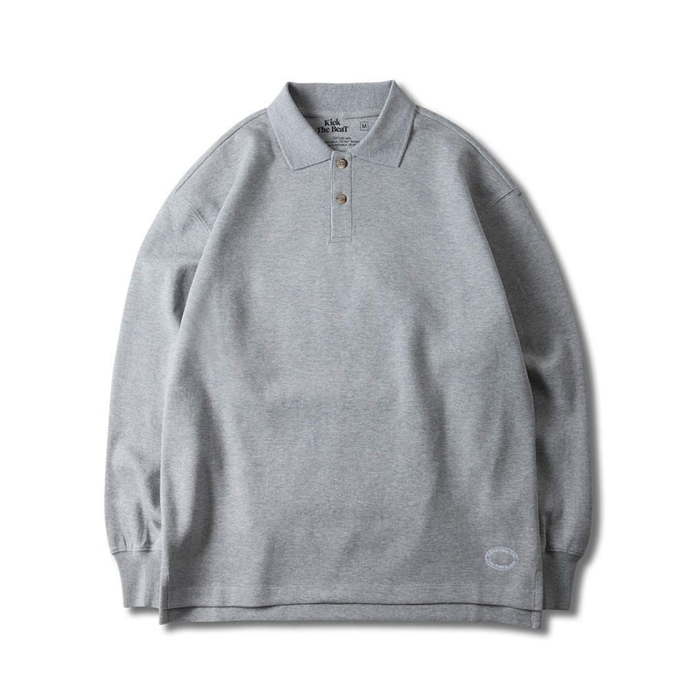 KICK THE BEATPolo Shirts Longsleeve (Grey)