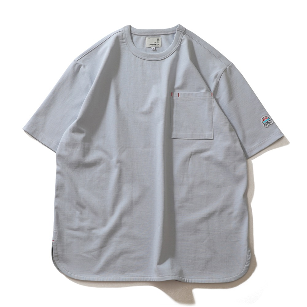 HORLISUNEmery Short Sleeve Pocket Seasonal T-Shirts(Sky Blue)