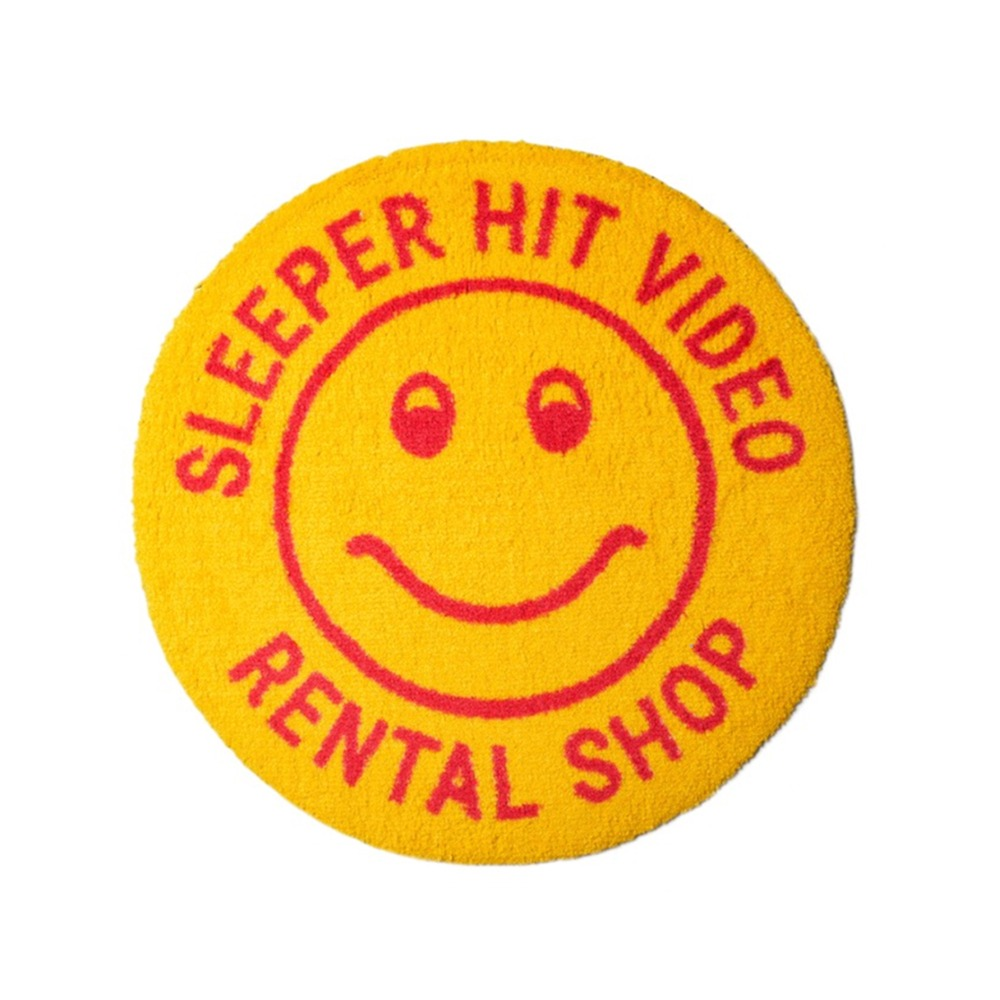 SLEEPER HIT VIDEO*RESTOCK*S.H.V. Smiley Rug(Yellow)