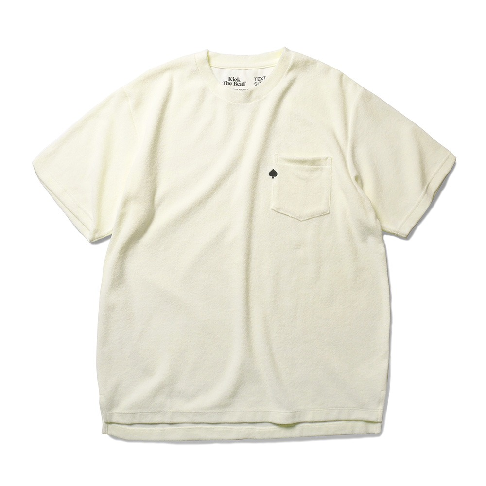 TEXT & SLNC X Kick The BeatSpade Embroidered Terry Pocket T(Butter)