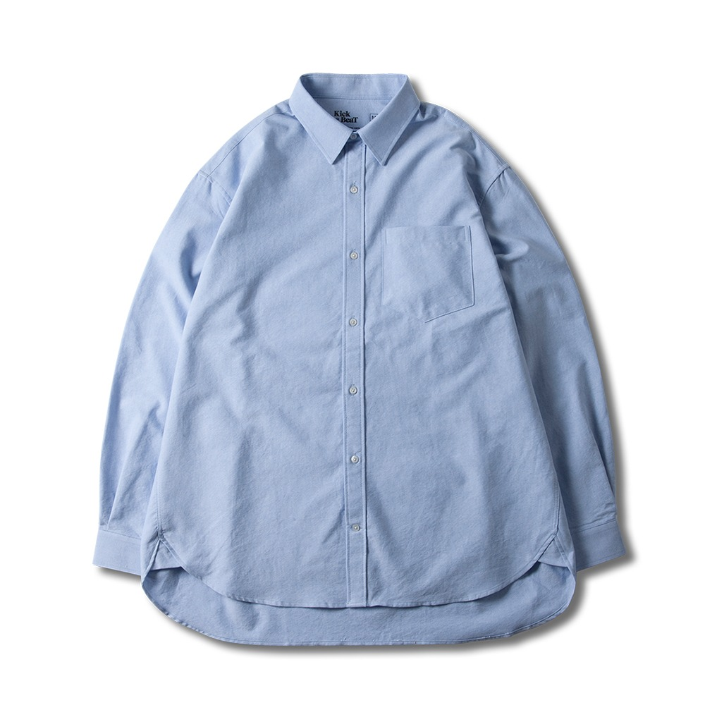 KICK THE BEATRelaxed Cotton Shirts(Sky Oxford)