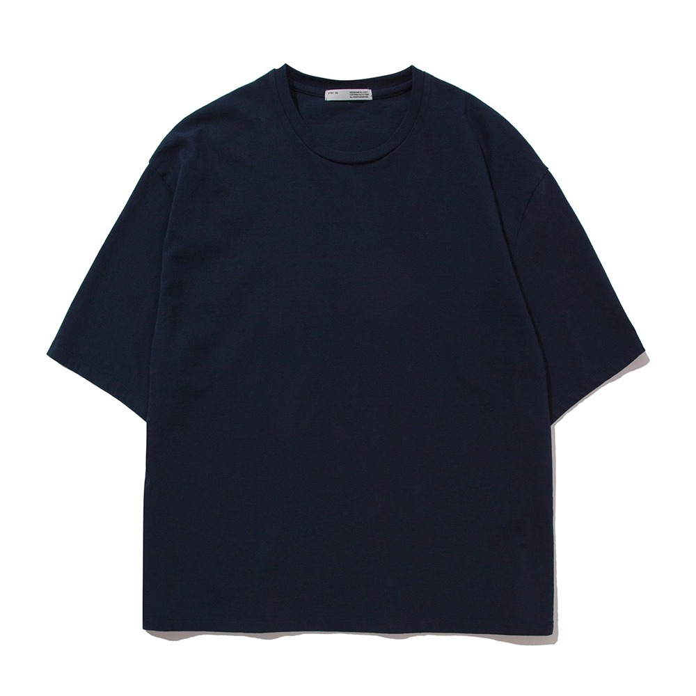 POTTERYShort Sleeve Comfort T-ShirtFine Cotton 17/1 BD Single Jersey(Navy)