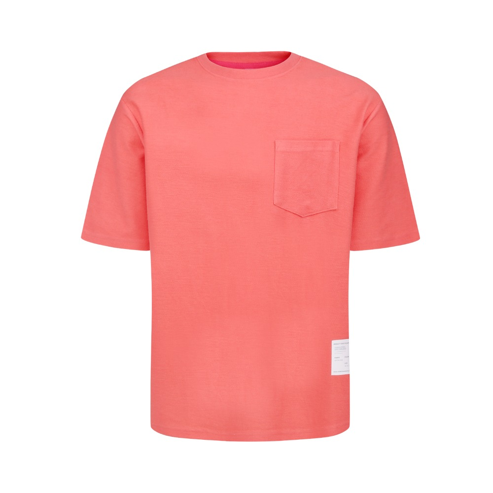 YOUNEEDGARMENTSSide Label French Terry Crew Neck(Coral)