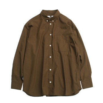 YOU NEED GARMENTSTencel Relaxed B.D Shirts(Brown)30% OFF