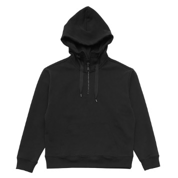 KEI CURRENTRE. Wind Sweat Zip Up Hoodie(Black)