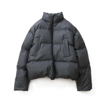 HORLISUNSouthpark Check Pattern Duckdown Jacket(Charcoal Gray)