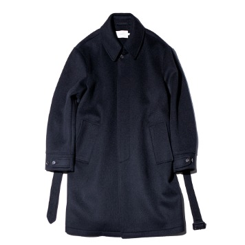 OUR SELVESSoft Wool Belted Mac Coat(Midnight Navy)