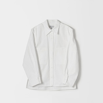 DONA DONATwo Pocket Atelier Shirts(White)40% OFF