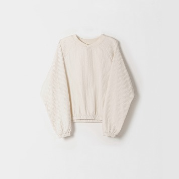 DONA DONAEasy Quilted Pullover(Ecru)30% OFF