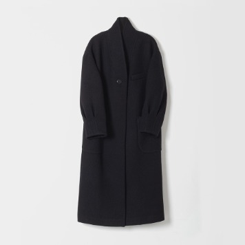 DONA DONAStand Collar Long Coat(Black)