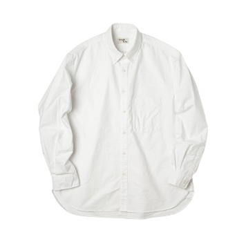 ROUGH SIDE110. Oxford Shirt(Off White)
