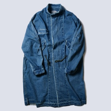 NAMER CLOTHINGDenim Washed M-65 Parka(Blue)