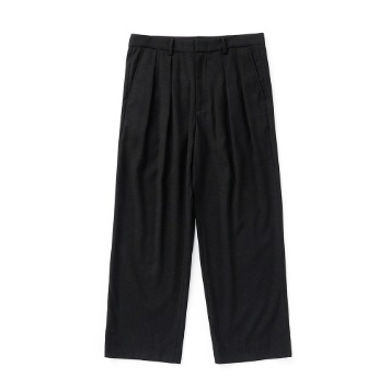 ESFAISO25 2 Tuck F Wide Pants(Black)30% OFF