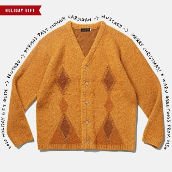 *2020 HOLIDAY GIFT GUIDE*DEUTERODTR1943 Past Mohair Cardigan(Mustard)30% Off