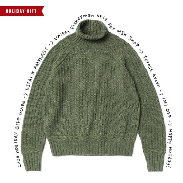 ESFAI X AMFEASTUnisex Fisherman KnitForMSK SHOP(Forest Green)30% OFF