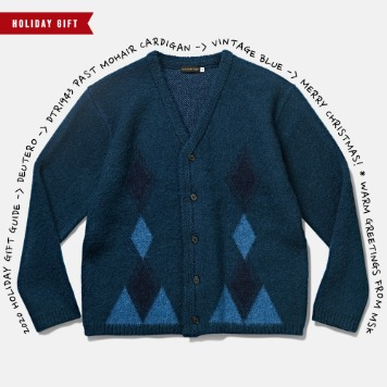 *2020 HOLIDAY GIFT GUIDE*DEUTERODTR1943 Past Mohair Cardigan(Vintage Blue)30% Off