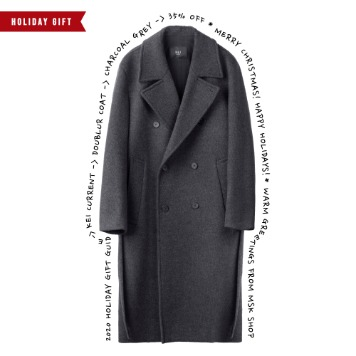 *2020 HOLIDAY GIFT GUIDE*KEI CURRENTDoublur Coat(Charcoal Grey)45% Off