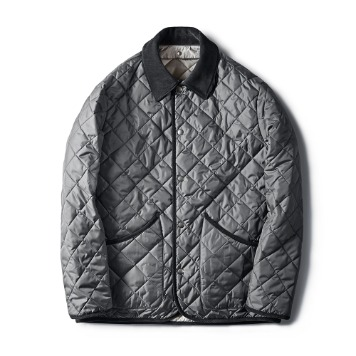ESFAIDiamond Quilted Jacket(Grey)30% OFF