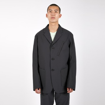 AFTER PRAYTactical 3Button Poly Blazer(Charcoal)