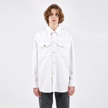 AFTER PRAYYouthhood Over Denim Shirket(White)
