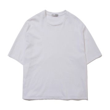 POTTERYShort Sleeve Comfort T-ShirtFine Cotton 17/1 BD Single Jersey(White)
