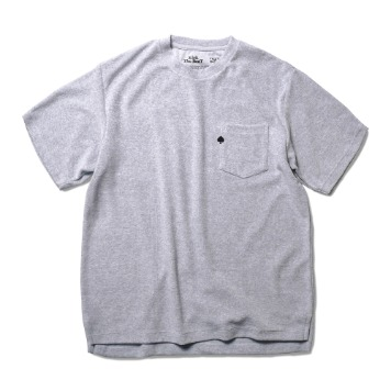 TEXT & SLNC X Kick The BeatSpade Embroidered Terry Pocket T(Melange Gray)