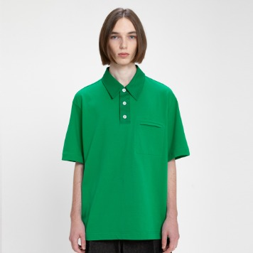 AFTER PRAYPannel Polo Shirt(Green)
