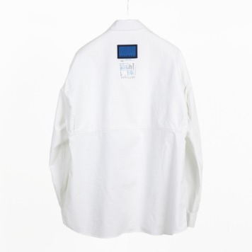 DOCUMENTBack Logo Oxford Shirt(White)