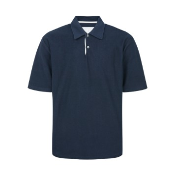 YOUNEEDGARMENTSFrench Terry Polo Shirt(Navy)