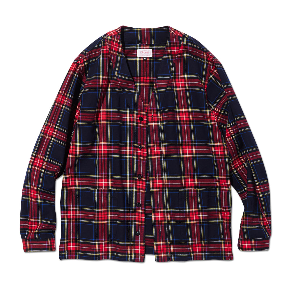 DEUTERODTR1904 Cardigan Check Shirts(Navy)