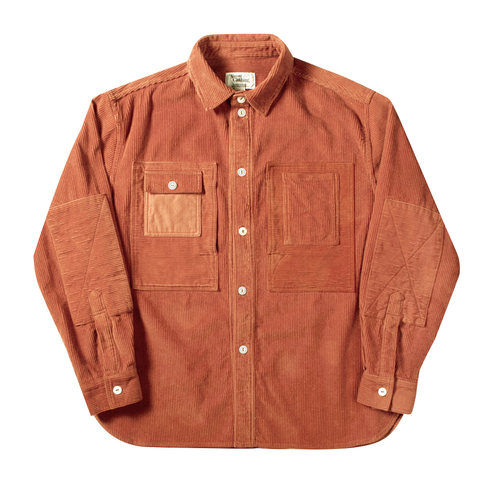 NAMER CLOTHINGCorduroy Utility Shirts(Orange)