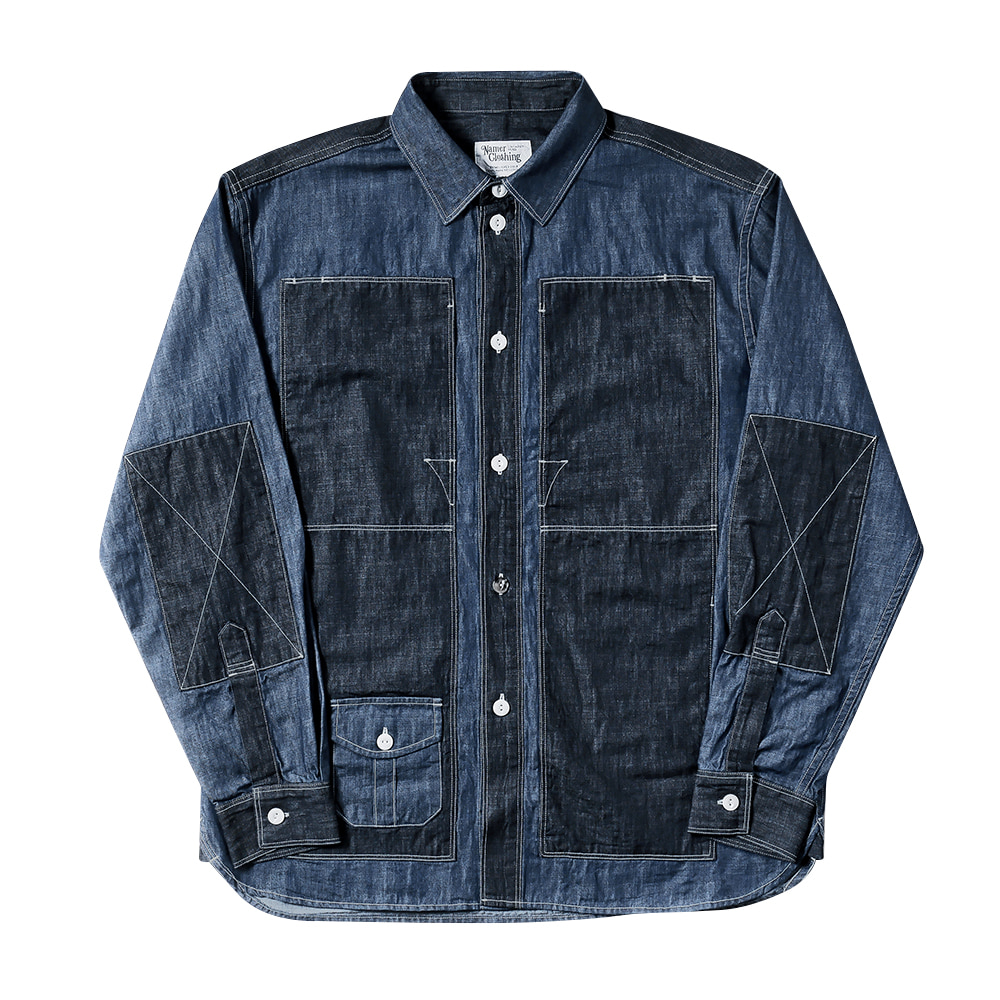 NAMER CLOTHINGBluer Utility Shirts(Blue)
