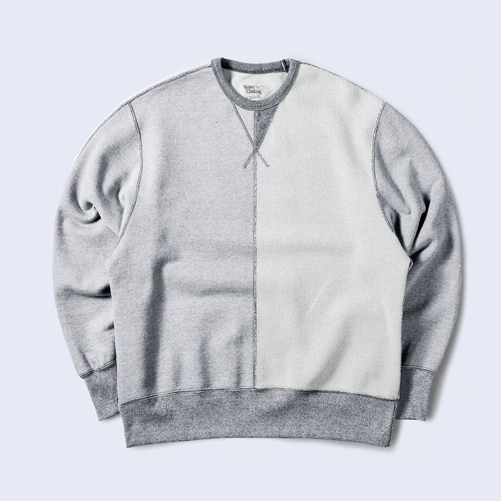 NAMER CLOTHING3rd Half Crewneck(Grey)