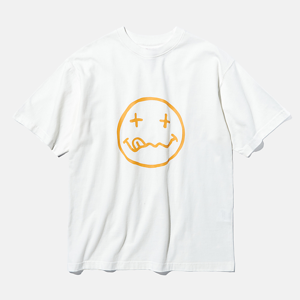 DEUTERODTR1936 90s Bad Face S/S Tee (Off White)