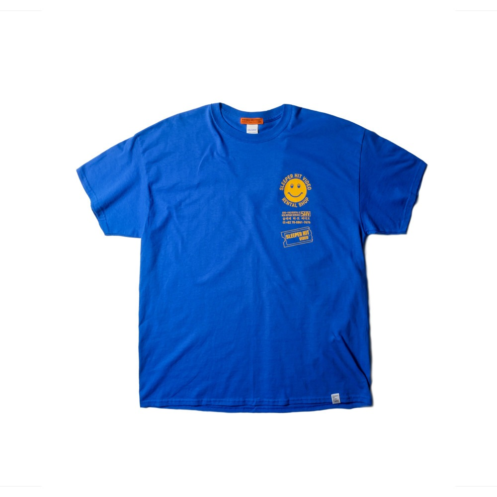 SLEEPER HIT VIDEOS.H.V. Merchandise T Shirts(Blue)