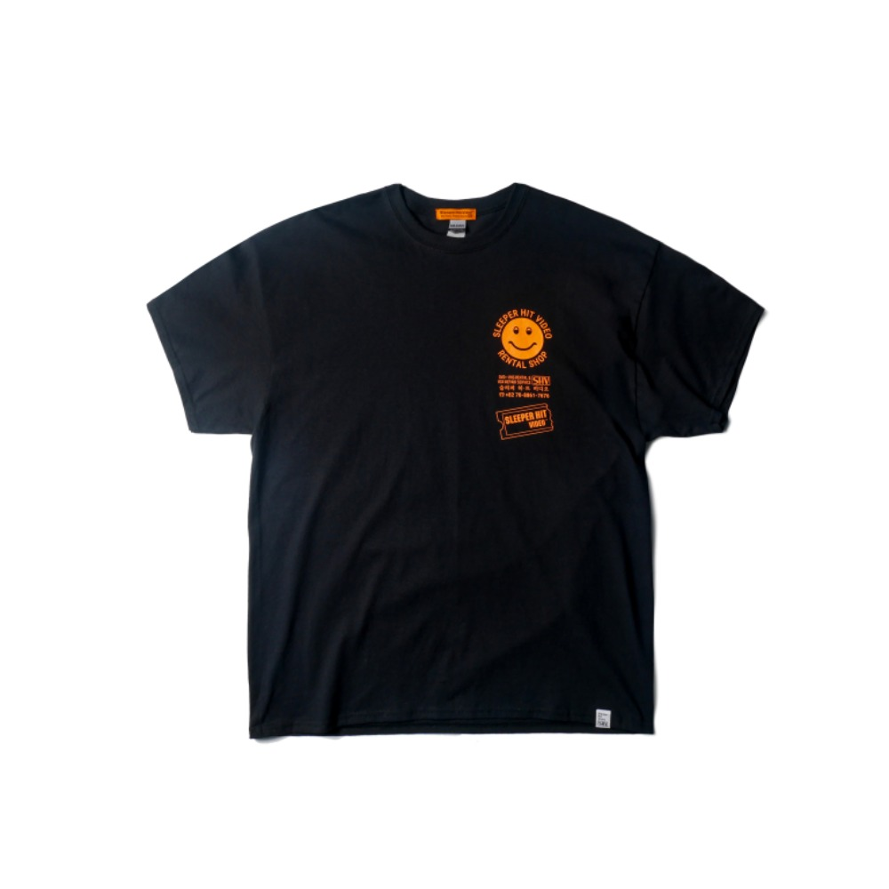 SLEEPER HIT VIDEOS.H.V. Merchandise T Shirts(Black)